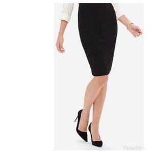 Ann Taylor | Black Pencil Skirt Silk Size 8